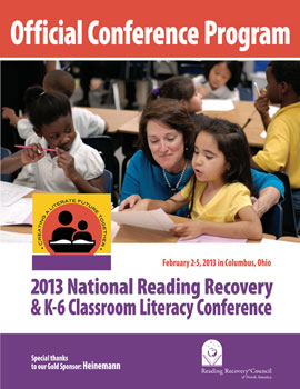 2012 National Reading Recovery Conference program