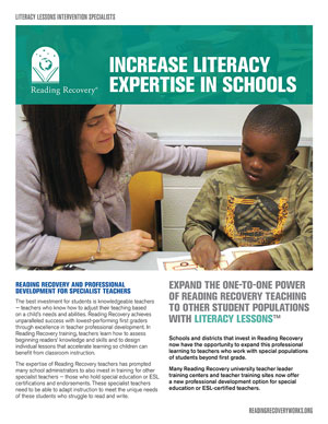 LIteracy Lessons brochure graphic