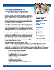 RRCNA Professional Learning Toolkits Intro graphic