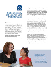 Reading Recovery and Common Core report cover image