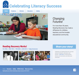Creating LIteracy Success website graphic